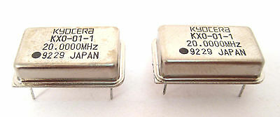 20-mhz Crystal Clock Oscillators Dip Case Style Lots Of 2 Great Price