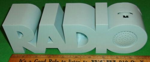 """""""R A D I O"""" Transistor Radio by ISIS/WWF Mod. VMR-42 (1970) Clean! Light Blue!"""