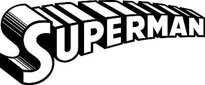 Superman Vinyl Decal-Superhero-Old School--