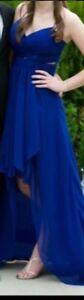 Beautiful royal blue high low dress