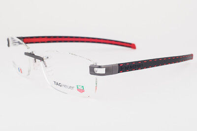Tag Heuer L-Type T 0151 001 PVD Black & Red Leather Eyeglasses