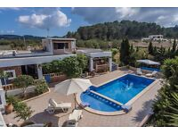 Villa in Ibiza for 9 people
