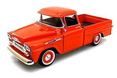 Motormax 1:24 Scale 1958 CHEVY APACHE FLEETSIDE PICKUP DIECAST Model Car Orange