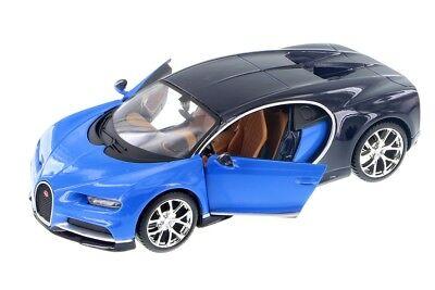 Maisto Bugatti Chiron 1:24 Diecast Model Toy Car 34514 Blue New without Box Maisto Toy Cars
