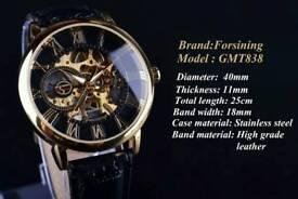 Forsining mechanical skeleton automatic watch