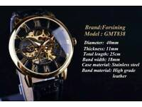 Forsining mechanical skeleton automatic watch