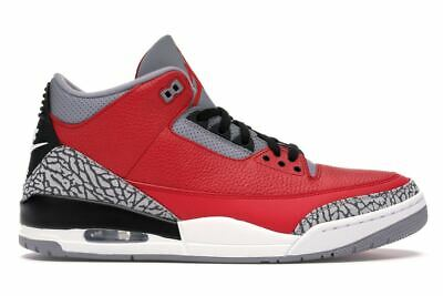 Nike Air Jordan 3 Retro SE Sizes 8-13 Fire Red Cement Grey Black OG CK5692-600