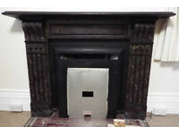 Antique Marble effect slate fire surround