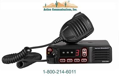 New Vertexstandard Evx-5300 Uhf 450-512 Mhz 25 Watt 8 Channel Mobile Radio