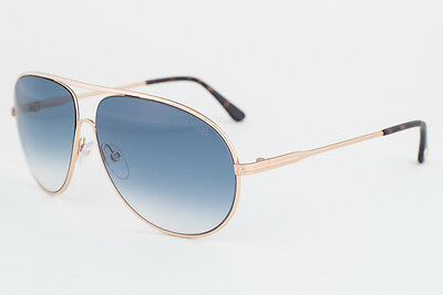 Tom Ford Cliff  Gold / Blue Sunglasses TF450 28P