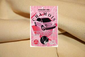 Premium CHAMOIS Leder Autoleder Fensterleder Lederlappen Ledertuch 56x36 B-Ware