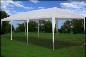 New 10 x 30 White Outdoor Canopy Gazebo Wedding Party Tent