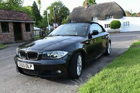 BMW 118d Convertible MSport - Metallic Black - FSH - Stunning