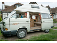 VW T25 limited edition Komet Campervan - Very Low Milegage - H-Reg 2.1 Unleaded - 4 birth