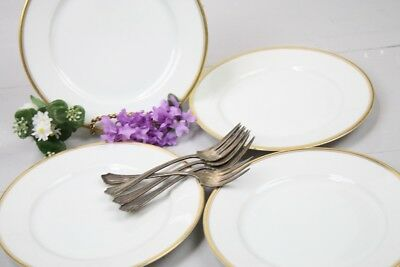 Gold Trim Plates Salad or Lunch  7 5/8