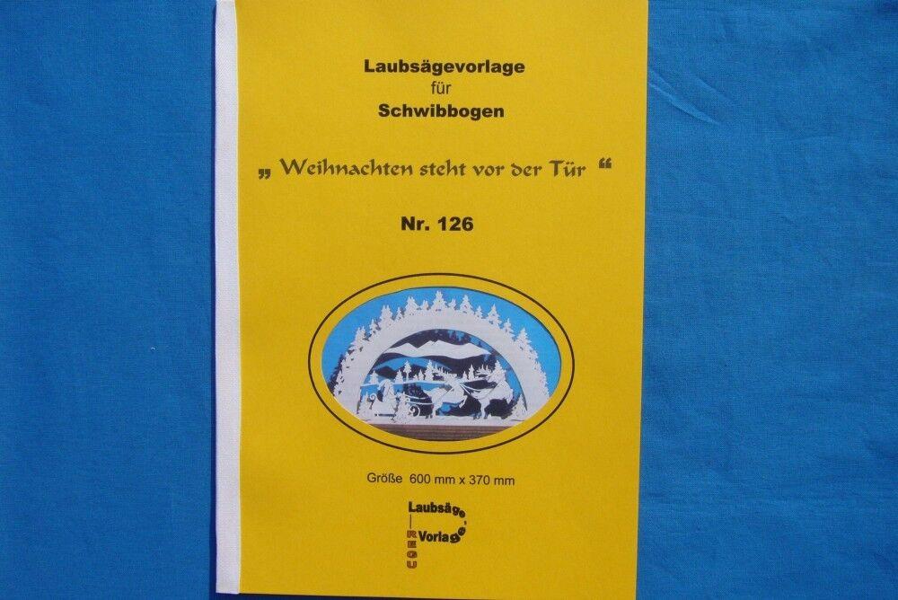 REGU - LAUBSÄGEVORLAGE Nr.126 SCHWIBBOGEN - \
