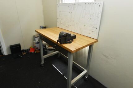 Work Bench with vice, shadow board and storage
