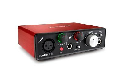 Focusrite Scarlett Solo 2nd Gen Audio Interface includes Ableton Live Lite