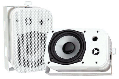 Pyle Home PDWR40W 5.25-Inch Indoor/Outdoor Waterproof Speakers (White)