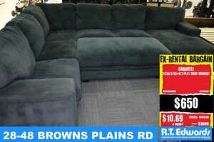 Gabrielle Corner Modular Lounge with Chaise and Warranty Browns Plains Logan Area Preview