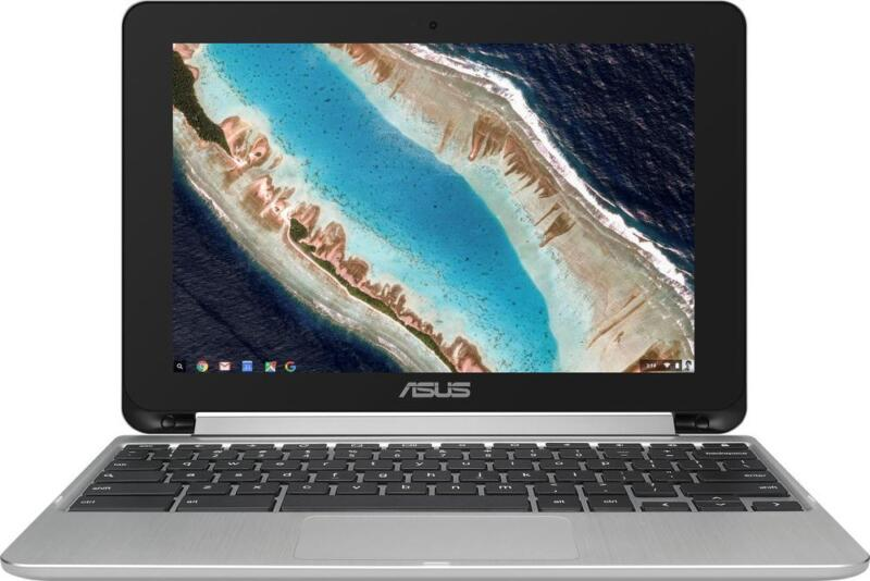 "Asus - Flip C101PA 2-in-1 10.1"" Touch-Screen Chromebook - Rockchip - 4GB Memo..."