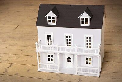 Lilac Dolls House Kit with Balcony and Porch 12th Scale 1:12