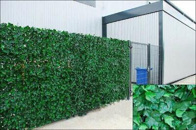 Artificial Ivy Leaf Hedge Panels On Roll Garden Fence Privacy Screening 1.5m x3m