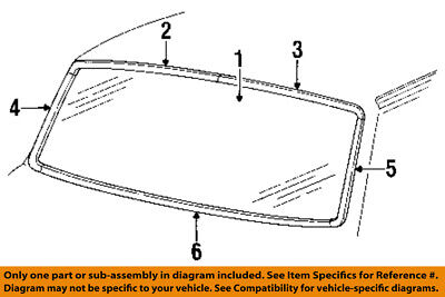 FORD OEM 84-96 F-250 Windshield-Reveal Molding Right EOTZ1003136A