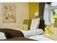 Big Sunny Twin room for 2 in Brighton center location clean flat share language students welcome