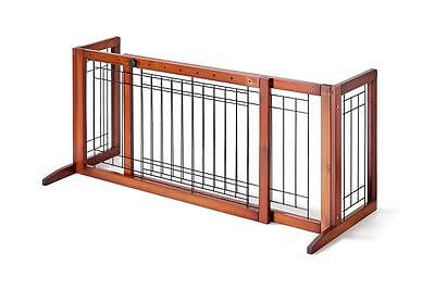 Adjustable Indoor Wood Construction Pet Fence Gate Free Standing Dog Gate G72L