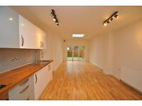 A stunning and recently refurbished two bedroom two bathroom ground floor flat with private garden.