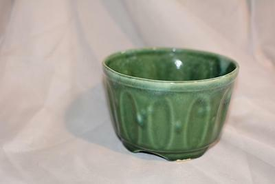 Art Deco Glazed Pottery Ceramic PLANTER Green Flower POT Antique Vintage Wedding