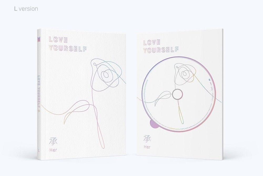 BTS - LOVE YOURSELF 承 'HER,' 5th Mini Album: CD+PHOTOBOOK+STICKER, SEALED