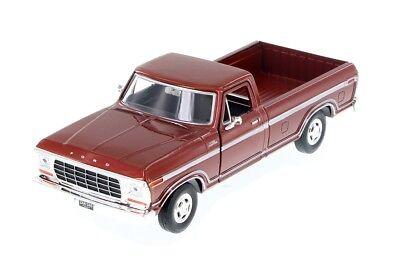 Motormax 1979 Ford F-150 Pickup Truck Brown 1:24 Scale Diecast CAR Model 79346