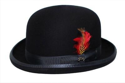 Navy Derby Hat (100% Wool High Quality Derby Hat Cap Navy Made in)