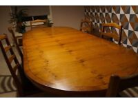 Bevan Funnell Dining Table And 6 G Plan Chairs