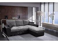 New Corner Sofa-bed, grey/black
