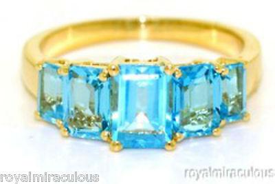 - Blue Topaz Ring 14K Yellow Gold (December Birthstone)