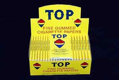 TOP FINE GUMMED CIGARETTE ROLLING PAPERS BOX / 24 BOOKLETS PAPER
