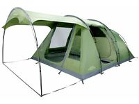 Vango Odyssey 500SC Tent with Attached Sun Canopy, Green
