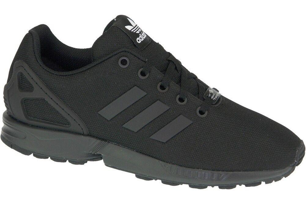 8e33655000b05 adidas Originals ZX Flux Triple Black Running Junior S82695 20 UK ...