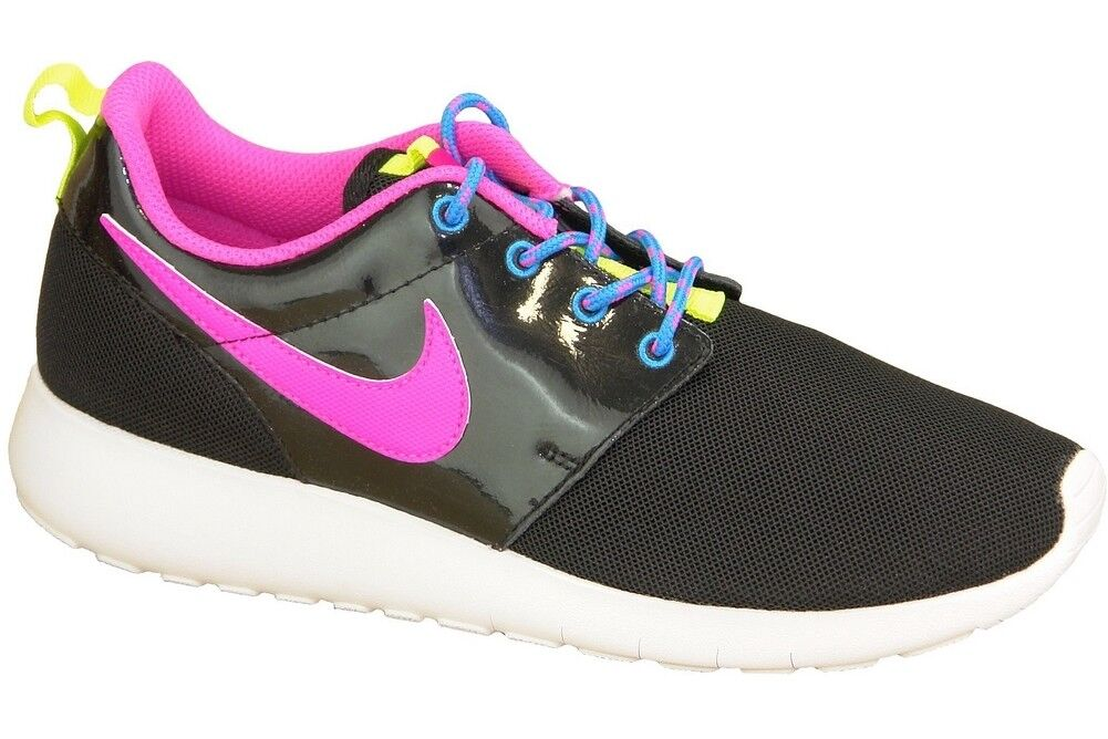 293208f0037 Nike Roshe One GS Black Pink Kids Youth Women Shoes SNEAKERS ...
