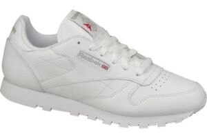 Reebok Leather Trainers Uk Primary Classic School Gs 50151 White In f7ybgY6