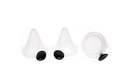 3pcs Aquarium Fish Food Bloodworm Basket Cone Feeder Feeding container <Z