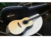1978 Ovation Balladeer USA acoustic guitar 1111-6 with NEW Ovation hard case