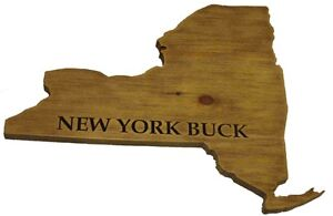 Deer antler mount plaque solid wood New York