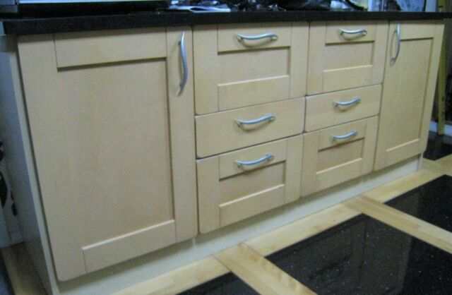 Fitted Kitchen Cupboard Doors Beechwood Shaker Style Diy In