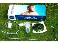 Brand New Aqua Lisa Shower Head and Fittings, with Hand Shower.