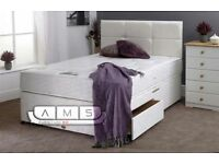 BRAND NEW - King Size Divan Bed Base with Ragency Orthopaedic Mattress Double/Kingsize available