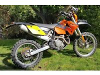 KTM 450 EXC 2004 for sale in good condition with V5, new MOT and recent service.